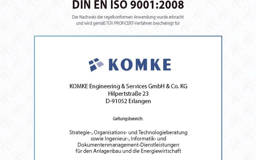 QMS nach ISO 9001 rezertifiziert