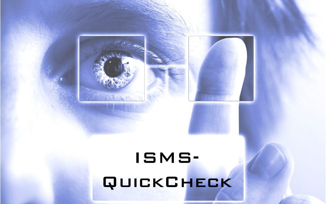 ISMS-QuickCheck – Wie sicher sind ihre Informationen?